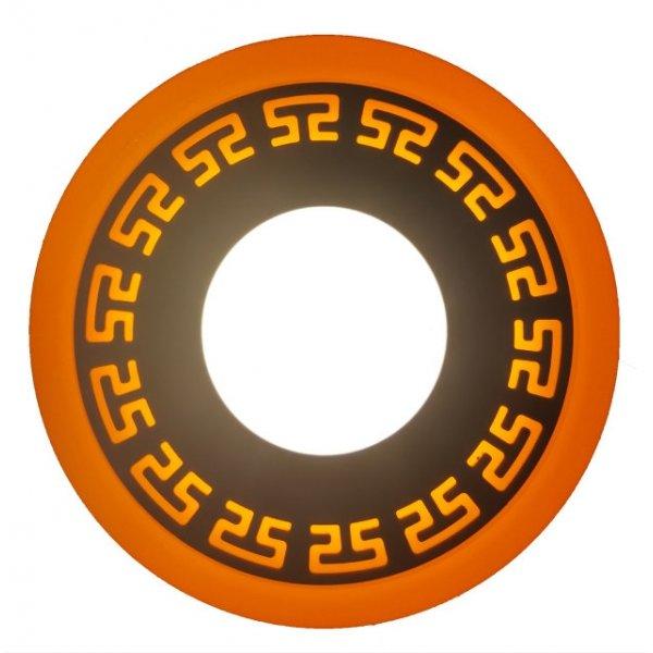 Точечный светильник LM555 Грек 6+3w с жёлтой подсветкой 540lm 4500k 175-265v круг