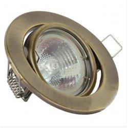Врезной светильник LMS002 античное золото MR-16 50w