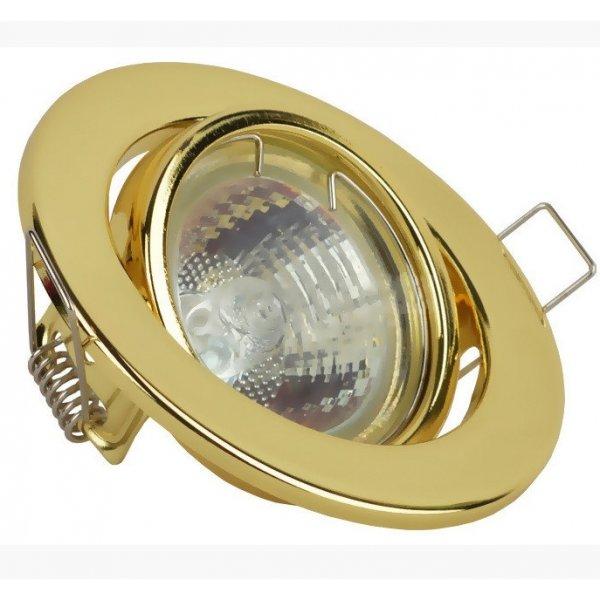 Врезной светильник LMS002 золото MR-16 50w