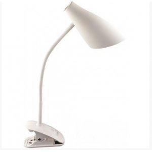Настольная лампа LMN090 5w 320lm прищепка, 4 уровня регулировки белая
