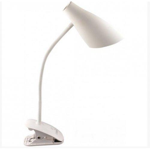Настольная лампа LMN090 5w 320lm прищепка, 4 уровня регулировки синяя