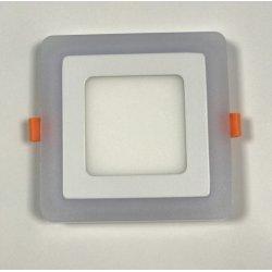 Точечный светильник LM501 12+4w с синей подсветкой 4500k квадрат