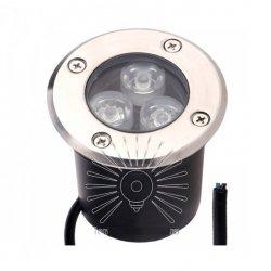Светильник led LM12 тротуарный 3led RGB 3w 150LM